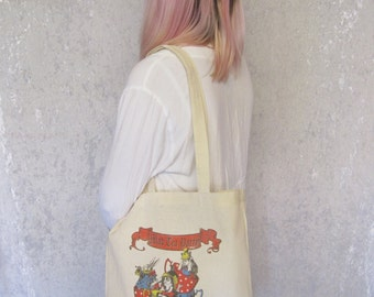 Mad Hatter Tote Bag Tea Party Tote Bag Teapot Tote Bag Canvas Tote Bag Alice in Wonderland Gift