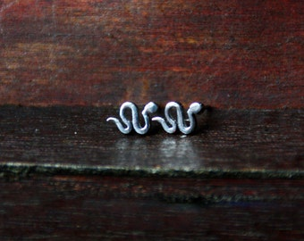 Studs snake silver stainless steel