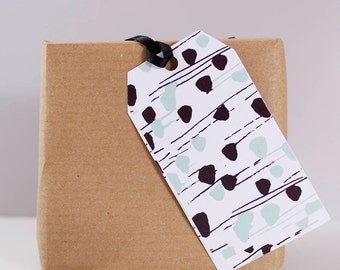 Dot And Stripe Gift Tag