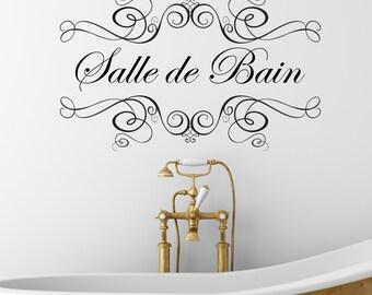 Stickers de salle de bain etsy - Stickers salle de bain ...
