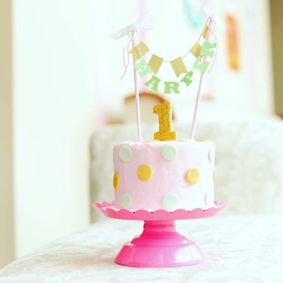 Custom Name Cake Topper Name Cake Topper Cake Topper Shabby Chic