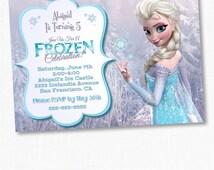 Girls Frozen Birthday Invitation, Frozen Birthday Party, Frozen Invitation, Frozen Birthday Invitation, Disney Invitation, Chalkboard Frozen