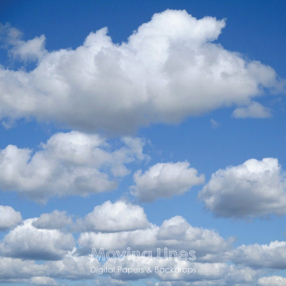 Clouds Photo Blue Sky Background Outdoors Baby Photo Shoot