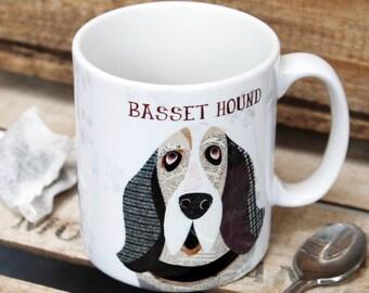 Personalisierte Tasse Basset Hound