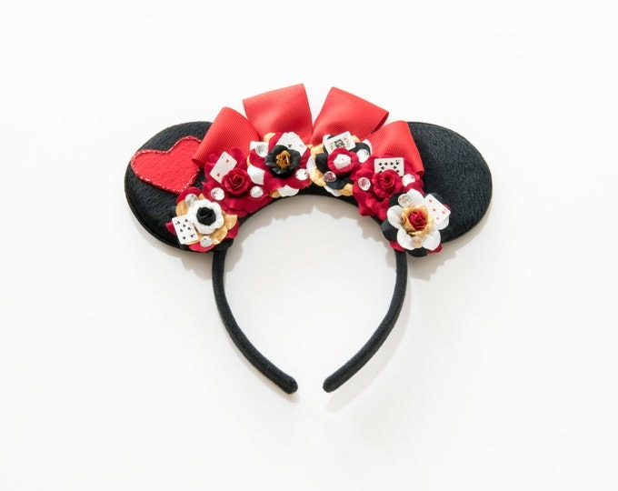 Queen of Hearts Mouse Ears Headband