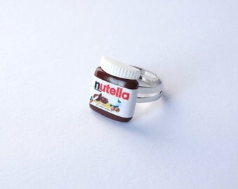 Nutella ring adjustable kawaii sweet chocolate