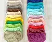 Super Soft 100% Cotton Baby Boy Girl Diaper Cover Plain Diaper Cover Bloomer Baby Boy Girl Solid Bloomers Baby Bloomers Diaper Cover