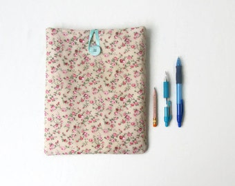 Floral IPad case, 10 inch tablet case, handmade in the UK