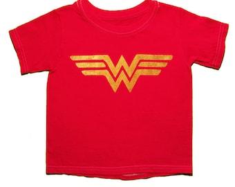 SALE!!! 16.00-->14.00, Wonder Woman, Girls Shirt, Superhero