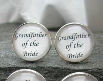 Grandfather of the Bride Cufflinks, Tie Clip, Tie Tack, Lapel Pin