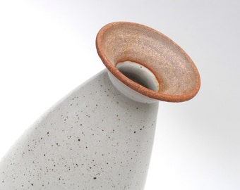 Tall rustic white ceramic vase