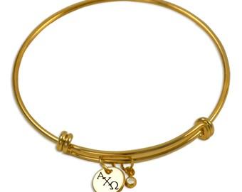 Alpha Chi Omega Sorority Bracelet / Sorority Bangle / AChiO Bangle / Sorority Jewelry / Alpha Chi Omega Jewelry / Alpha Chi Omega Gift