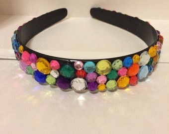 Customizable Headband with Rhinestones