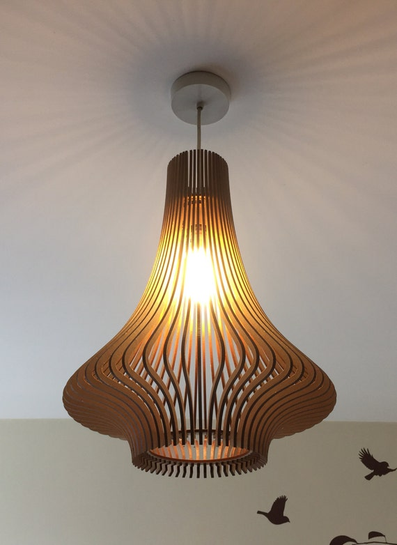 Porcelain Inspired Laser Cut Wooden Lampshade No 3