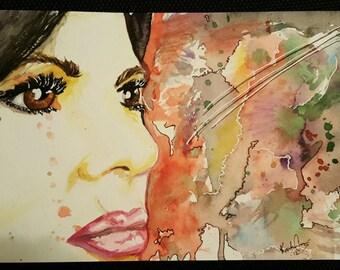 Regal Color -Lana Parrilla Watercolor paper 6x12 Evil Regal