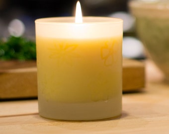 Gardenia Scented * Floral Tumbler Candle