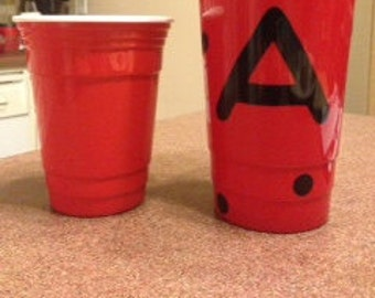 Personalized Red Solo Reusable Cup