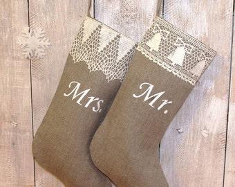 handmade christmas stockings mr and mrs christmas stocking custom stocking christmas stocki - Custom Christmas Stockings