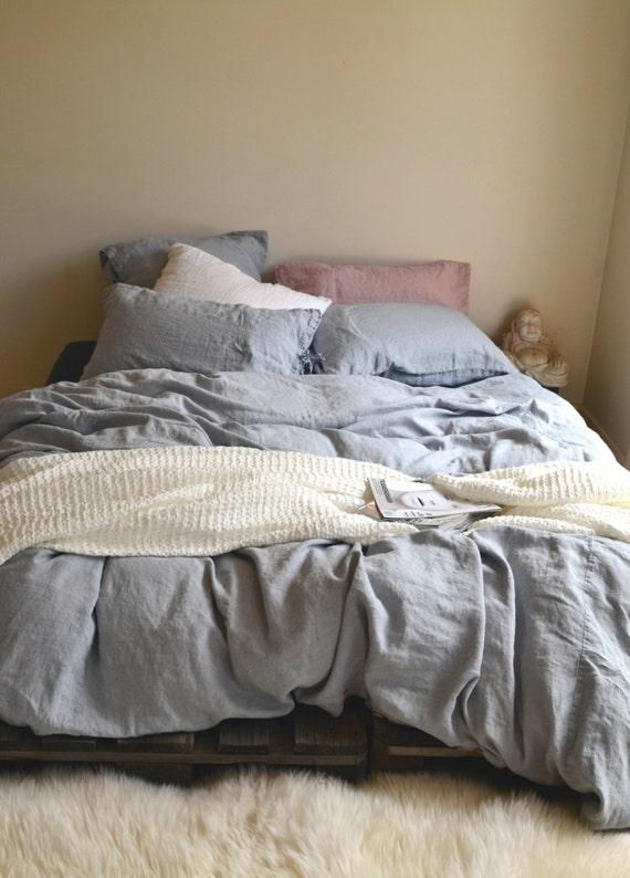 light grey heavy weight duvet cover linen duvet cover. Black Bedroom Furniture Sets. Home Design Ideas