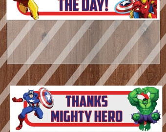 Mighty Hero Party Bag Topper / Party Favor / DIY / Printable