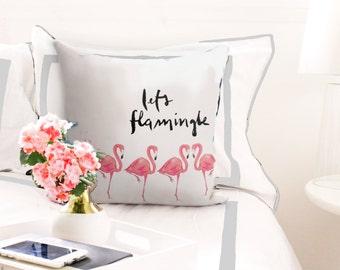 Let's Flamingle Pillow