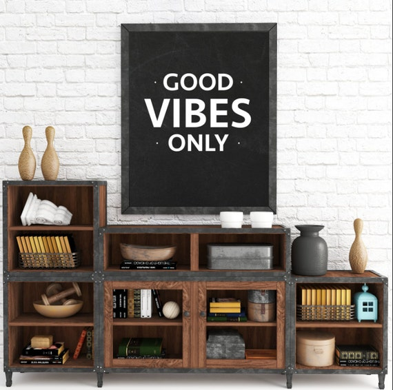 Good Vibes Only, Black and White Wall Art, Chalkboard Prints, Typography, Wall Art Prints, Instant Download