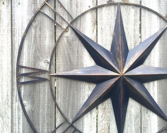 Nautical Decor, Navy Blue Compass, Compass Wall Art, Metal Wall Art, Navy Blue Decor, Metal Compass Decor, Metal Wall Decor, Nautical Decor