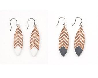 Navette Feather Earrings