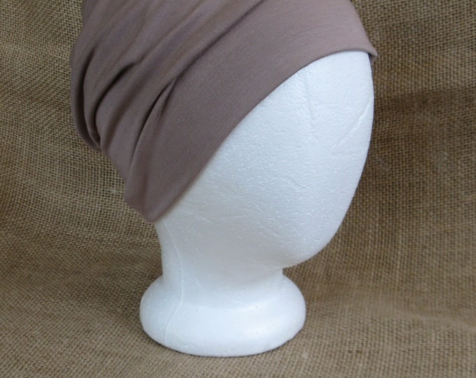 Bamboo Summer Toffee Chemo Cap - Chemo Hat Unisex Cancer Headwear and Slouch Beanie