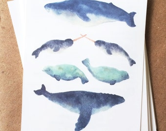 summer temporary tattoos blue whale tattoo watercolor narwhal spring break beach trip fake tattoos beluga whale tat nautical creature tattoo
