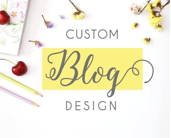 custom blog design custom wordpress theme personalized blog theme custom blog template from. Black Bedroom Furniture Sets. Home Design Ideas