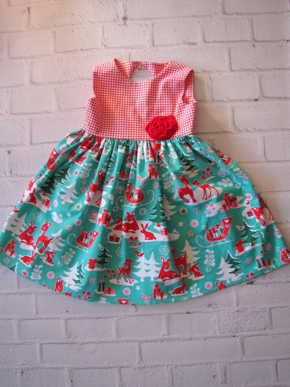 Christmas dress 5t girls retro holiday dress vintage style christmas