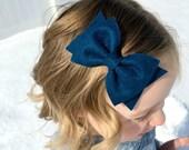 LARGE FELT BOW // felt bow clip // baby headband felt bow