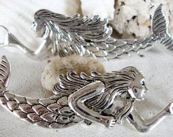 Mermaid Necklace Pendant,Mermaid Large Necklace Pendant,nautical,sea,ocean,beach,mermaid pendant,SALE