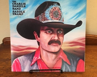 CHARLIE DANIELS BAND, Vintage Charlie Daniels record, Saddle Tramp record, vintage country music, country music album,country music record