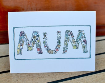 Happy Mothers Day Card - Green thumb Mum