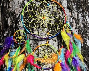 large tie dye dream catcher by tiedyespirit on etsy. Black Bedroom Furniture Sets. Home Design Ideas