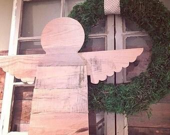 Folk Art Reclaimed Wood Angel l Guardian Angel l Reclaimed Wood Angel