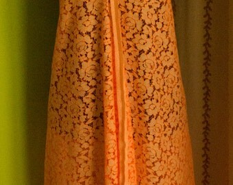 Cotton orange sleeveless dress