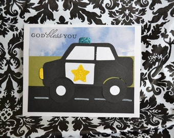 Handmade Police Card - Perfect to tell your Policeman Thank You - Appreciation - Hero