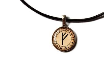 Feoh necklace Rune pendant  Viking jewelry