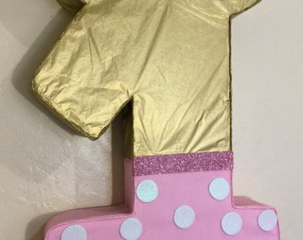 Minnie mouse pinata. Minnie mouse gold and pink. Diy Minnie mouse. Minnie mouse pink and gold. Minnie mouse birthday
