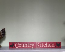 Country Kitchen prim sign - Ready to ship
