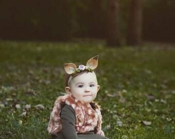 Fawn/Deer ear headband