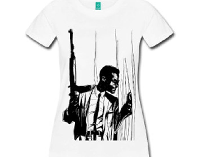 Malcolm X By Any Means Necessary Women's Fitted T-shirt - White