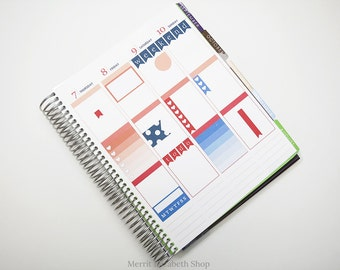 Planner Sampler Kit : July Vertical Planner Stickers 038042
