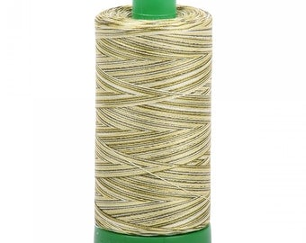 Aurifil Variegated Thread; Spring Prairie 4653; Mako Cotton 40wt Thread; Large spool: 1094 yards; machine embroidery, applique, quilting