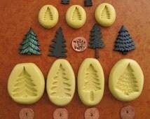 CHRISTMAS tree SILICONE flexible mold, Holiday mold, Christmas mold, Santa mold, food mold, fondant mold, PMC mold, chocolate mold