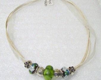 880 - Cream Beaded Necklace