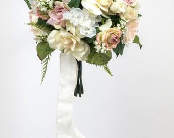 BRIDAL silk WEDDING FLOWERS bouquet